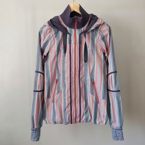 Lululemon Track and Field Jacket Size 4 Ombre Multicolour